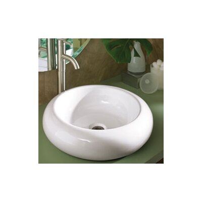 Classically Redefined Round Ceramic Vessel Bathroom Sink - 1421-CWH