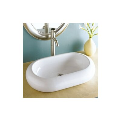 Classically Redefined Oval Vessel Bathroom Sink - 1485-CWH