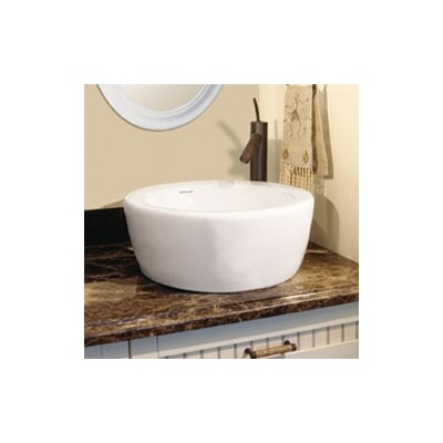 Classically Redefined Round Ceramic Vessel Sink with Overflow - 1418-CWH