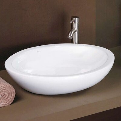 Egg Shaped Vitreous China Vessel Sink - 1478-CWH