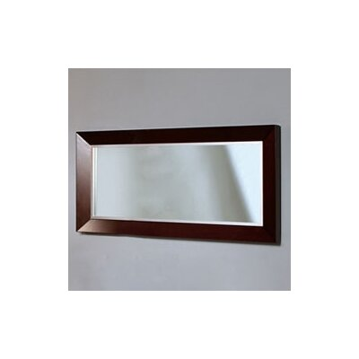 DecoLav Cityview Rectangular Mirror in Red Mahogany
