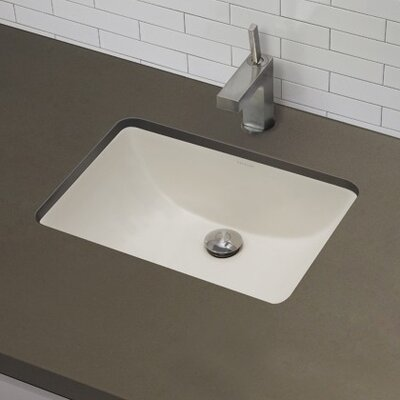DecoLav Classic Rectangular Undermount Bathroom Sink with Overflow ...