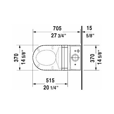 Duravit Starck 3 Elongated Toilet Bowl Only