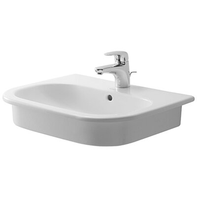 D-Code Bathroom Sink with Overflow - 03375400