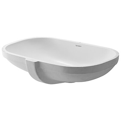 D-Code Undercounter Bathroom Sink with Overflow - 0338490000