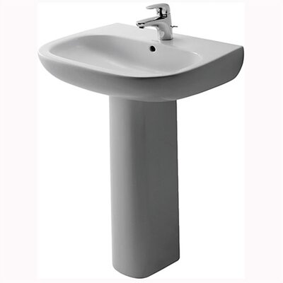 D-Code Pedestal Bathroom Sink Set - D4002