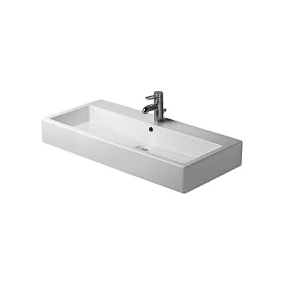 duravit vero console bathroom sink set reviews wayfair. Black Bedroom Furniture Sets. Home Design Ideas