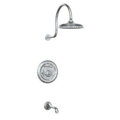 Jado Savina Pressure Balance Diverter Tub and Shower Faucet with Cross Handle