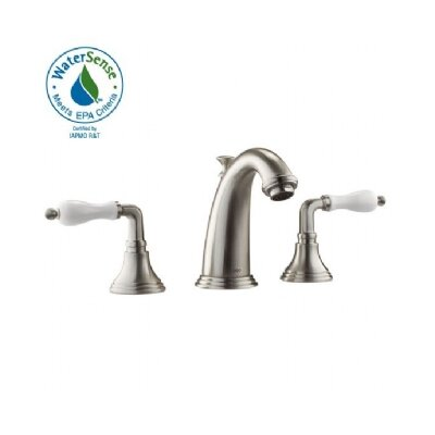 Classic Widespread Bathroom Faucet with Double Porcelain Lever Handles - 853/968