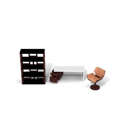 brinca dada Maison Collection Modern Dollhouse Office Furniture