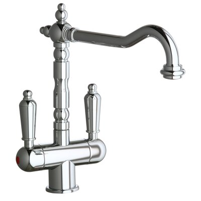 Victoria Double Handle Single Hole ADA Compliant Kitchen Faucet with Soap Dispenser and ...