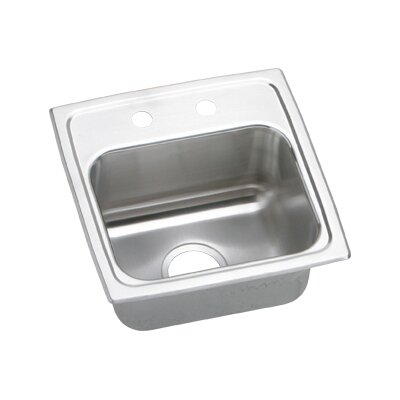 "Elkay Gourmet 15"" x 15"" x 6.5"" Top Mount Kitchen Sink"
