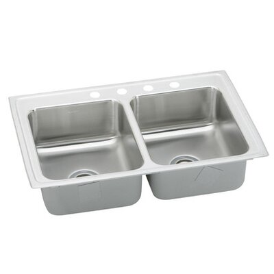 "Elkay Gourmet 23"" x 17"" Top Mount Kitchen Sink"