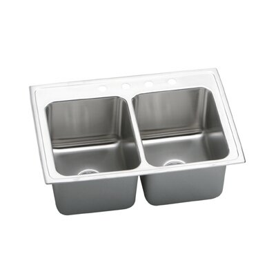 "Elkay Gourmet 33"" x 22"" Top Mount Kitchen Sink"