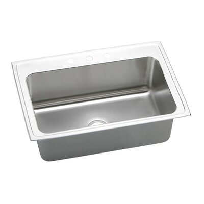 "Elkay Gourmet 33"" x 22"" x 11.63"" Top Mount Kitchen Sink"