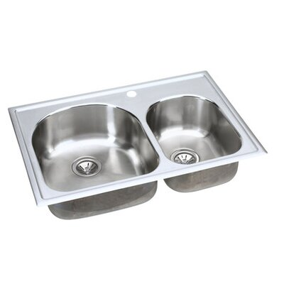 "Elkay Harmony 33"" x 22"" x 10.38"" Top Mount Kitchen Sink"