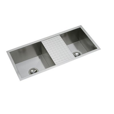 "Elkay Avado 40"" x 18.5"" Undermount Double Bowls Package Kitchen Sink"