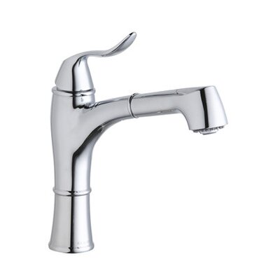 Single Handle Deck Mount Lavatory Kitchen Faucet with Pullout Spray