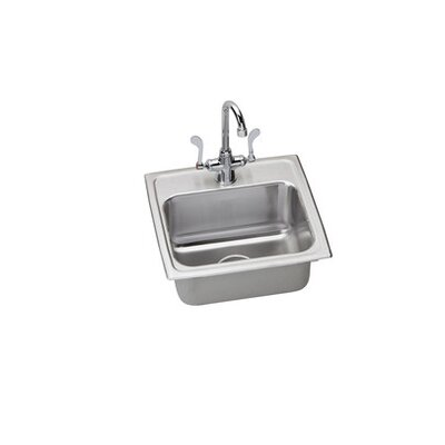 "Elkay 17"" x 16"" Complete Kitchen Sink with Faucet"