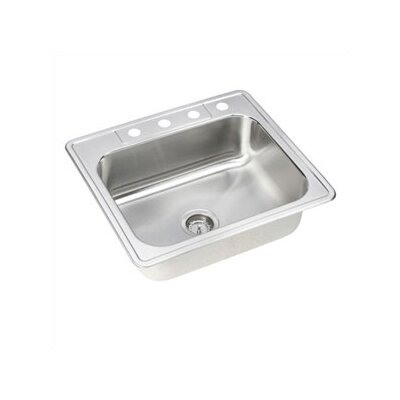 "Elkay Dayton Elite 25"" x 22"" Stainless Steel Single Bowl Sink Set"