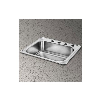 "Elkay Celebrity 25"" x 22"" Self-Rimming Stainless Steel Sink Set"