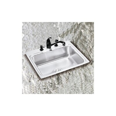 "Elkay Lustertone 17.5"" x 15"" Spacious Single Bowl Kitchen Sink"