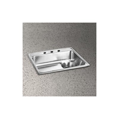 "Elkay Lustertone 25"" x 22"" Single Bowl Kitchen Sink with Waste Drain"