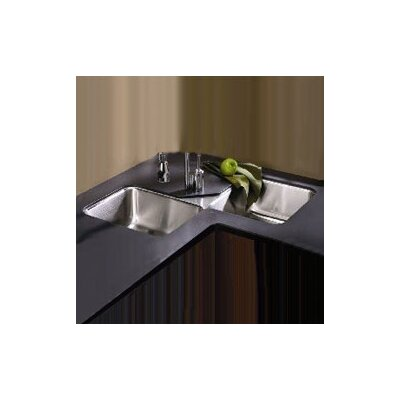 Lustertone 32 X 32 Undermount Double Bowl Corner Kitchen Sink Wayfair