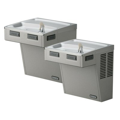 Barrier-Free ADA Compliant 2 Station Wall Mount Drinking Fountain