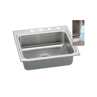 "Elkay Gourmet 25"" x 22"" E-Dock Kitchen Sink"
