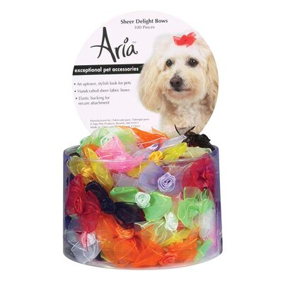 Aria Sheer Delight Dog Bows (100 Pieces)