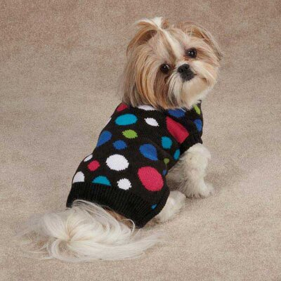 East Side Collection Electric Knit Dog Sweater