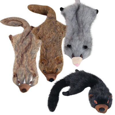 Grriggles Unstuffies Fisher Cat Dog Toy