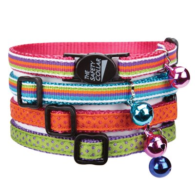 Savvy Tabby Nylon with Ribbon Cat Collar