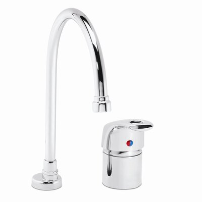 One Handle Widespread Kitchen Faucet with Deep Gooseneck