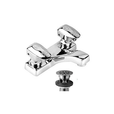 Easy-Push Centerset Metering Faucet with Push Handle - S-4141