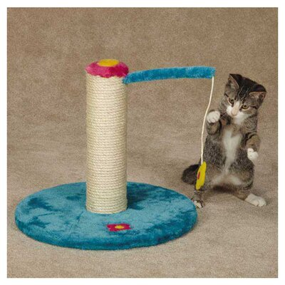 Zanies Blooming Brights Sisal Cat Scratching Post
