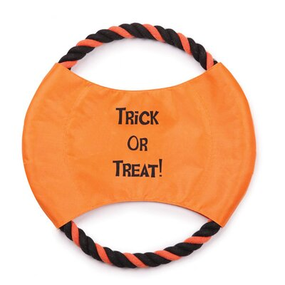 Zanies Trick or Treat Rope Flyer Dog Toy