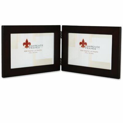 Wood Hinged Double Picture Frame