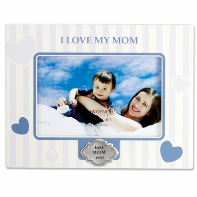 I Love My Mom Horizontal Picture Frame