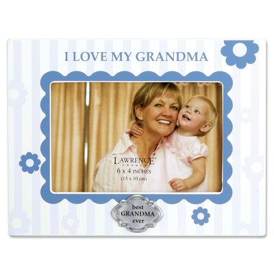I Love My Grandma Horizontal Picture Frame