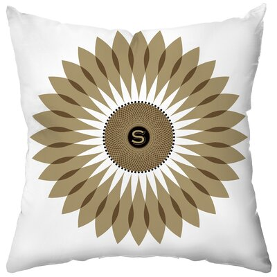 Checkerboard Personalized Sunflower Seeds Poly Cotton Throw Pillow