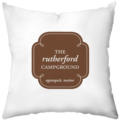 Checkerboard Personalized Campground Poly Cotton Throw Pillow