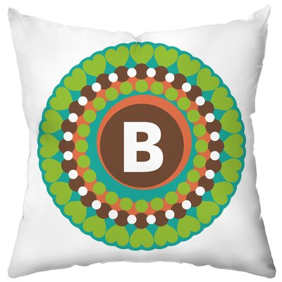 Checkerboard Personalized Funky Flowers Poly Cotton Throw Pillow
