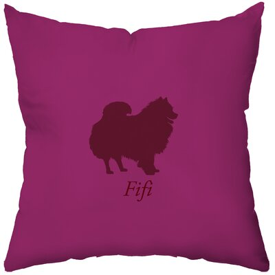 Checkerboard Personalized Pomeranian Poly Cotton Throw Pillow