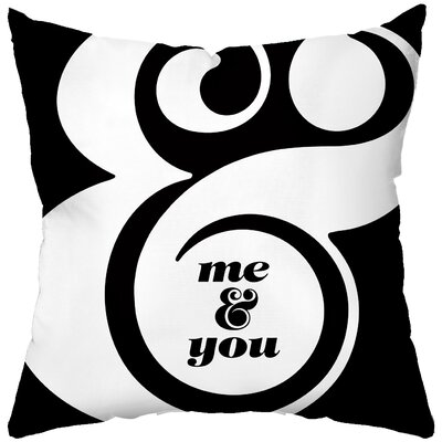 Checkerboard Me and You Poly Cotton Throw Pillow