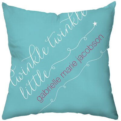 Checkerboard Personalized Little Star Poly Cotton Throw Pillow
