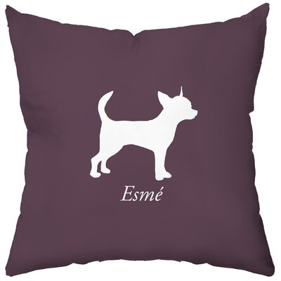 Checkerboard Personalized Chihuahua Poly Cotton Throw Pillow