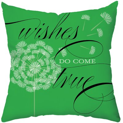Checkerboard Wishes Do Come True Poly Cotton Throw Pillow