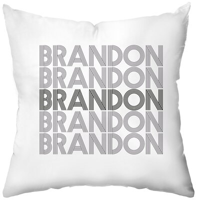 Checkerboard Personalized Electron Poly Cotton Throw Pillow